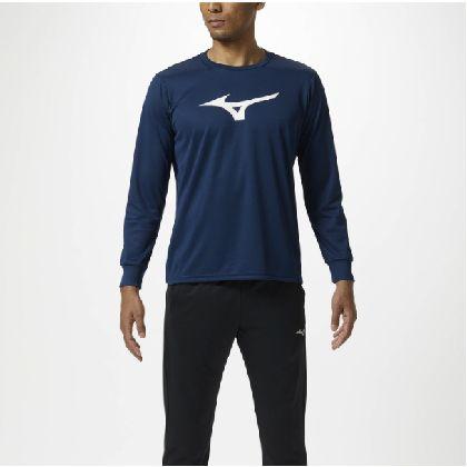 長袖Tシャツ[ユニセックス]ドレスネイビー×ホワイト・S