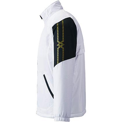 ブレスサーモ中綿ウォーマージャケット[ユニセックス] ホワイト ・ XL