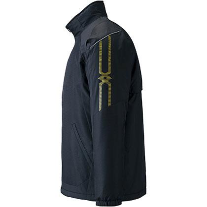 ブレスサーモ中綿ウォーマージャケット[ユニセックス] ブラック ・ XL