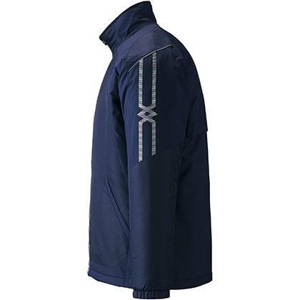 ブレスサーモ中綿ウォーマージャケット[ユニセックス] ネイビー ・ L