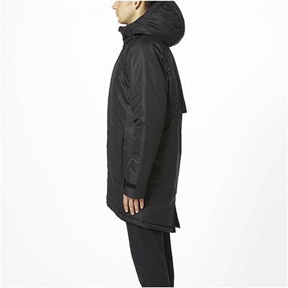 中綿ブレスサーモミドル丈コート[ユニセックス]ブラック・2XL