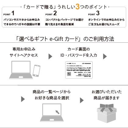 選べるギフト 月コース(e−Gift) 写真入りメッセージカード(有料)込