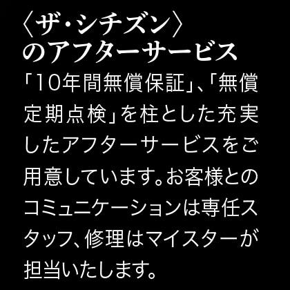 〈ザ・シチズン〉高精度「エコ・ドライブ」 スーパーチタニウムモデル(和紙文字板)(シルバー)(19.2cm)
