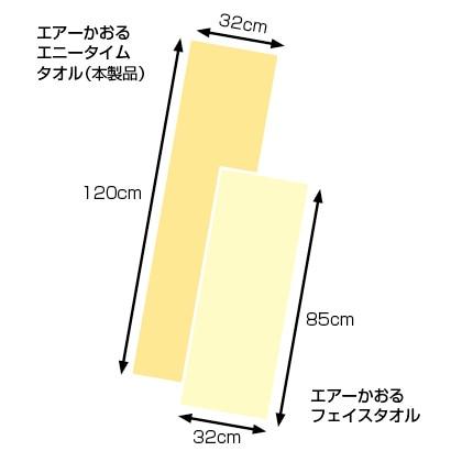 エアーかおる エニータイムタオル 2枚セット(ホワイト×2枚)
