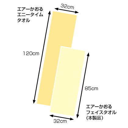 エアーかおる フェイスタオル 3枚セット(ピンク×3枚)