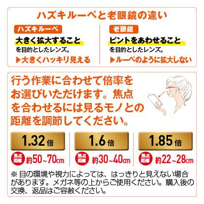ハズキルーペ コンパクト クリア(1.32倍)(ルビー)