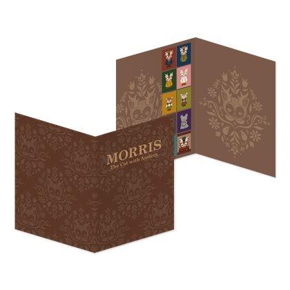 つのがはえた猫「MORRIS」フレーム切手 KITTY MORRISセット(限定カラー レッド) 限定200個