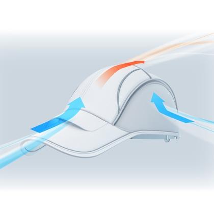 Airpeak Athlete�V (ホワイト×グレー)ロゴバック