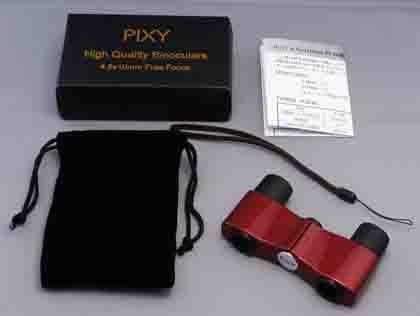 PIXY 双眼鏡 4.5X10 ワインレッド