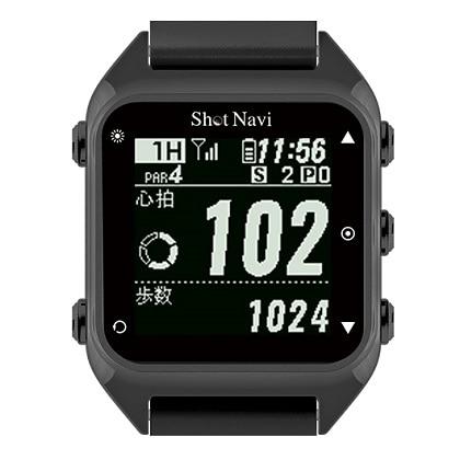 GPSゴルフナビ ShotNavi HuG ブラック