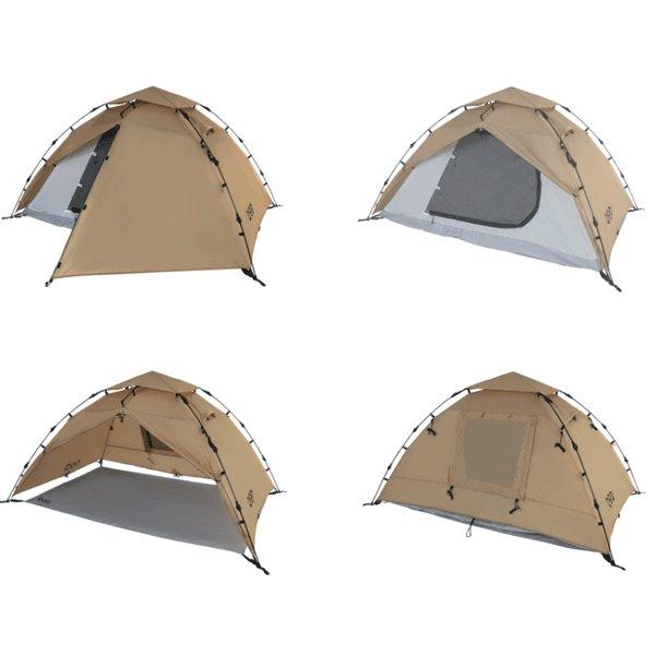 DOD ライダーズワンタッチテント タン T2-275-TN テント ソロテント ライダーズテント キャンプ アウトドア 用品
