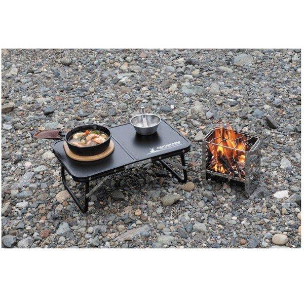 キャプテンスタッグ FDハンドテーブル 47×30 (ブラック) UC-0546 テーブル アウトドア キャンプ 用品 道具