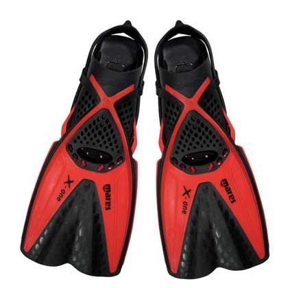 【マレス】シュノーケルセット mares X-ONE MAREA SET エックスワン マレア セット Black/Red 【シュノーケリング3点セット】 ML(25.0cm〜28.0cm)