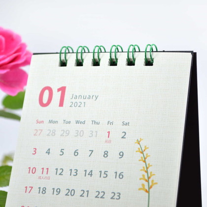 CAL−35 2021版カレンダー卓上1ヵ月 シンプルフラワー ML