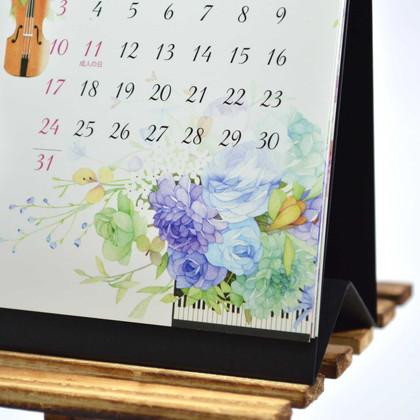 CAL−36 2021版カレンダー卓上2ヵ月 モダンフラワー S
