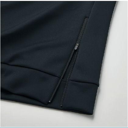 ストレッチスウェットクルー[ユニセックス]ブラック・XL