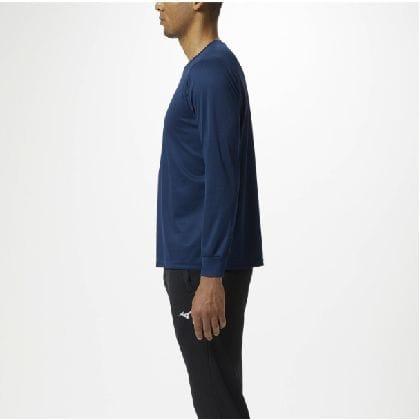 長袖Tシャツ[ユニセックス]ドレスネイビー×マゼンダ・L
