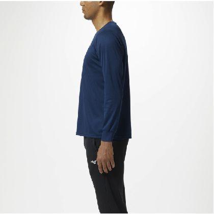 長袖Tシャツ[ユニセックス]ドレスネイビー×ホワイト・L