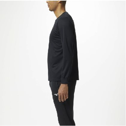 長袖Tシャツ[ユニセックス]ブラック×ゴールド・L