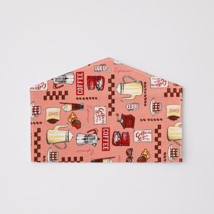 抗菌マスクケース カフェ(ピンク)