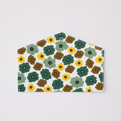 抗菌マスクケース フラワー(グリーン)