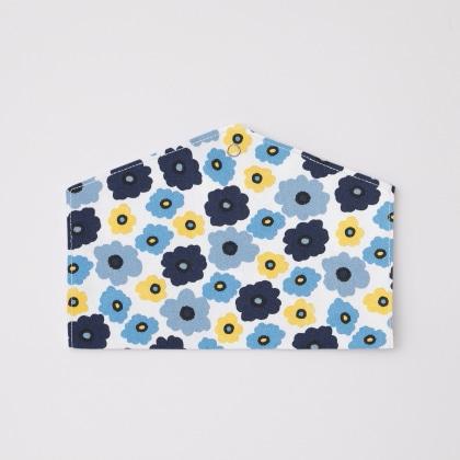 抗菌マスクケース フラワー(ブルー)