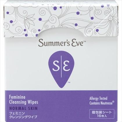 Summer's Eve フェミニンクレンジングワイプ ノーマルスキン 16枚入