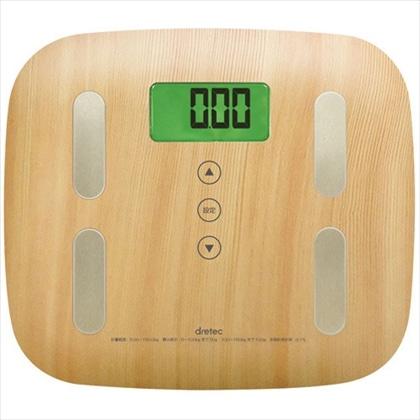 [ネット限定]体重体組成計 BS-244 ナチュラルウッド