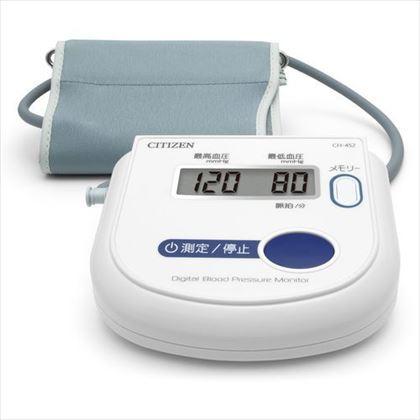 シチズン 上腕式電子血圧計 CH452-WH