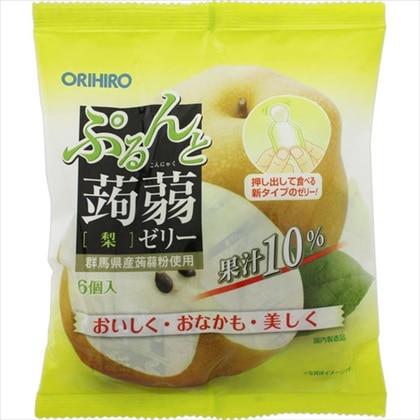 ぷるんと蒟蒻ゼリーパウチ 梨 120g(20g×6個)