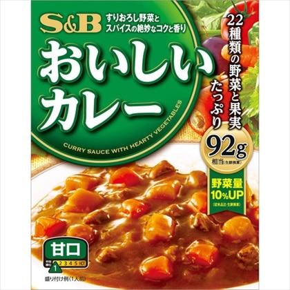 S&Bおいしいカレー 甘口 180g