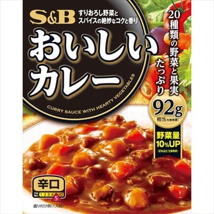 S&Bおいしいカレー 辛口 180g