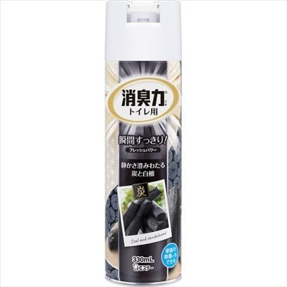 フレッシュパワー消臭力 トイレ用スプレー 炭と白檀の香り 330mL