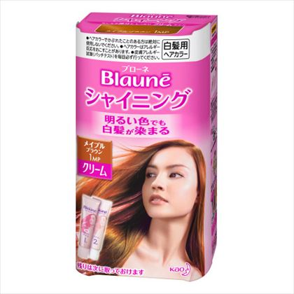 ブローネ シャイニングヘアカラー クリーム 1MP メイプルブラウン 1個