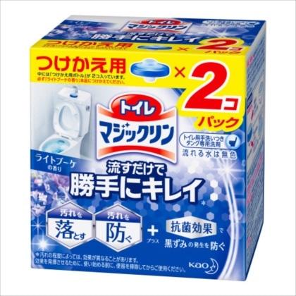 トイレマジックリン 流すだけで勝手にキレイ ライトブーケの香り つけかえ用 2個(160g)