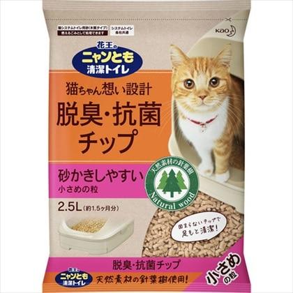 ニャンとも 清潔トイレ 脱臭・抗菌チップ小さめの粒 2.5L