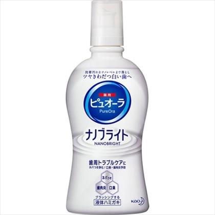 花王 薬用ピュオーラ ナノブライト 液体ハミガキ 400ml