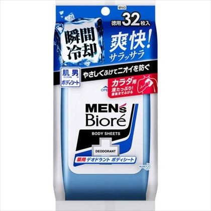 メンズビオレ 薬用デオドラントボディシート 32枚[医薬部外品]