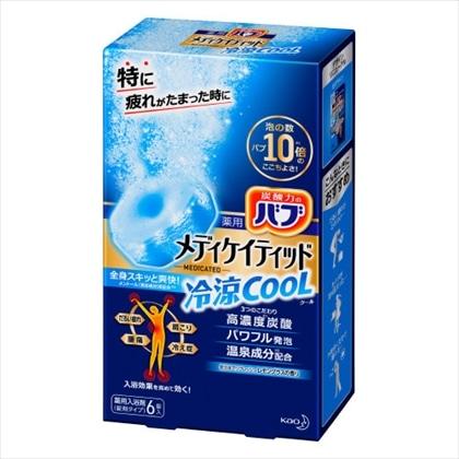 薬用バブ メディケイティッド 冷涼クール レモングラスの香り 6錠入[医薬部外品]