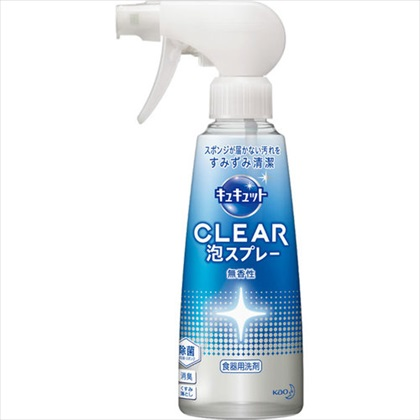 キュキュット CLEAR泡スプレー 無香性 本体 300mL