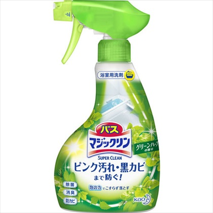 バスマジックリン 泡スプレースーパークリーン グリーンハーブの香り 本体 380mL