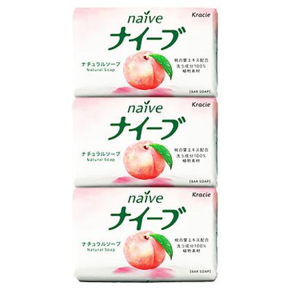 ナイーブ ナチュラルソープ(桃の葉) 90g×3個