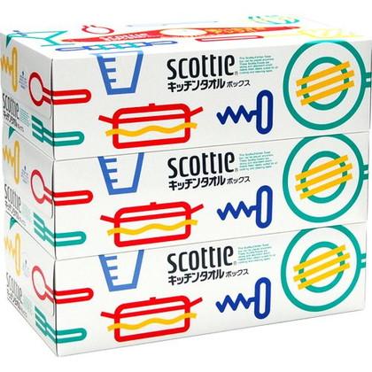 スコッティキッチンタオルボックス 75組×3組