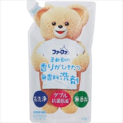 ファーファ 液体洗剤 香りひきたつ 無香料 詰替 0.9kg