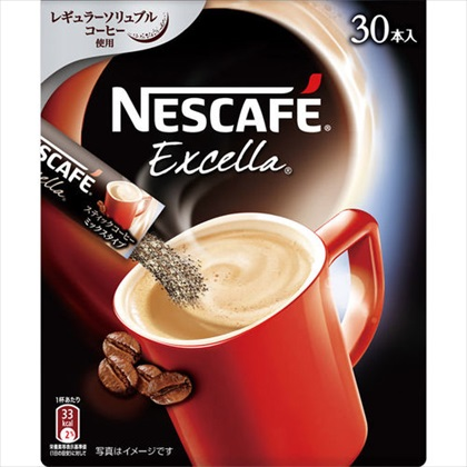 ネスカフェ エクセラ スティックコーヒー 198g(6.6g×30本)
