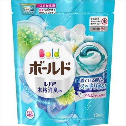 ボールド ジェルボール3D 爽やかプレミアムクリーンの香り つめかえ用 18個