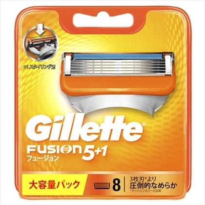 ジレット フュージョン5+1 替刃 8個