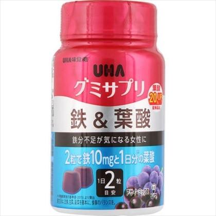 UHA グミサプリ 鉄&葉酸 ボトル 60粒