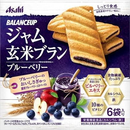 バランスアップ ジャム玄米ブラン ブルーベリー 165g(1枚×6袋)