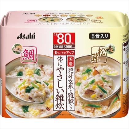 アサヒ リセットボディ 体にやさしい鯛&松茸雑炊 5食入り(鯛雑炊3食+松茸雑炊2食)